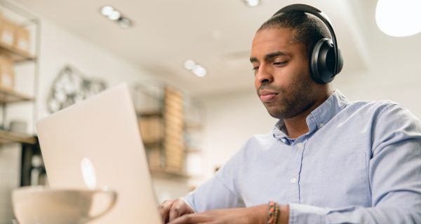 Bose Professional, Guy on Laptop, Technology for Remote Working