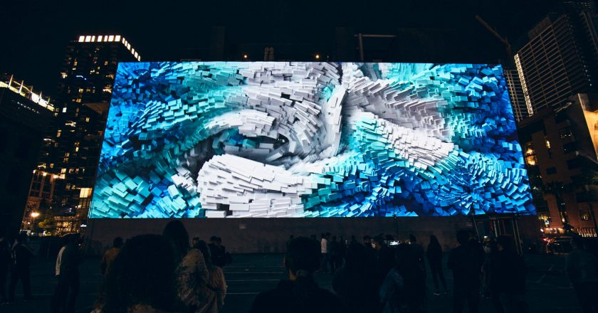 """Digital Art at Refik Anadol's """"Wind of Los Angeles."""""""