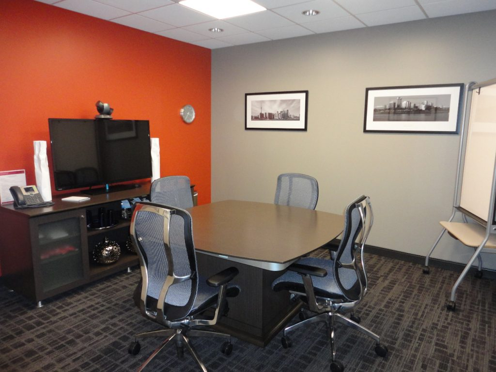 A conference room at B-Tech AV Mounts' new CA offices.