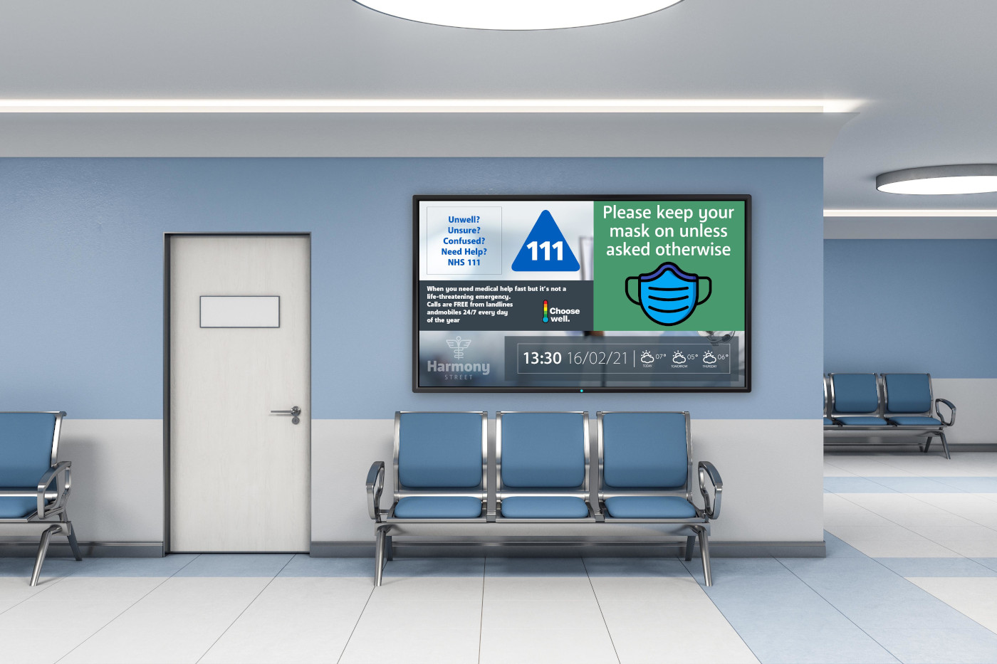 Hospitals and healthcare facilities use digital signage to convey messaging