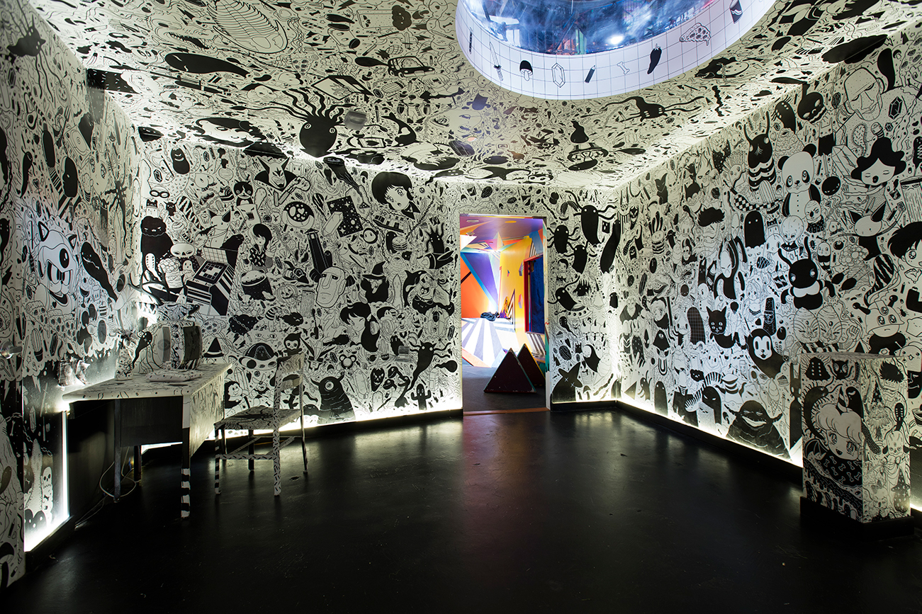 Future Fantasy Delight by Nico Salazar at Meow Wolf's House of Eternal Return