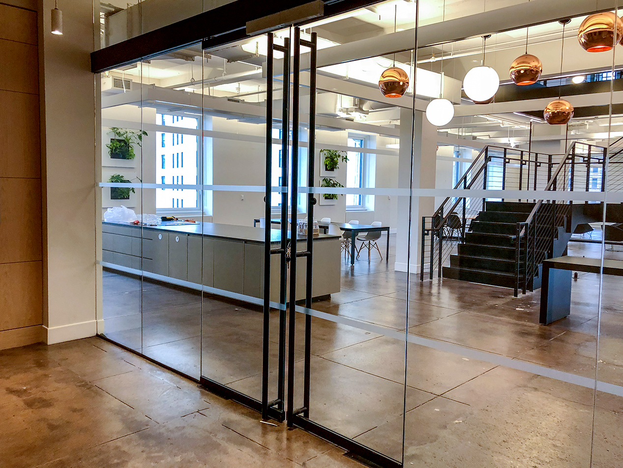 19th floor entrance at Twitch's NYC headquarters