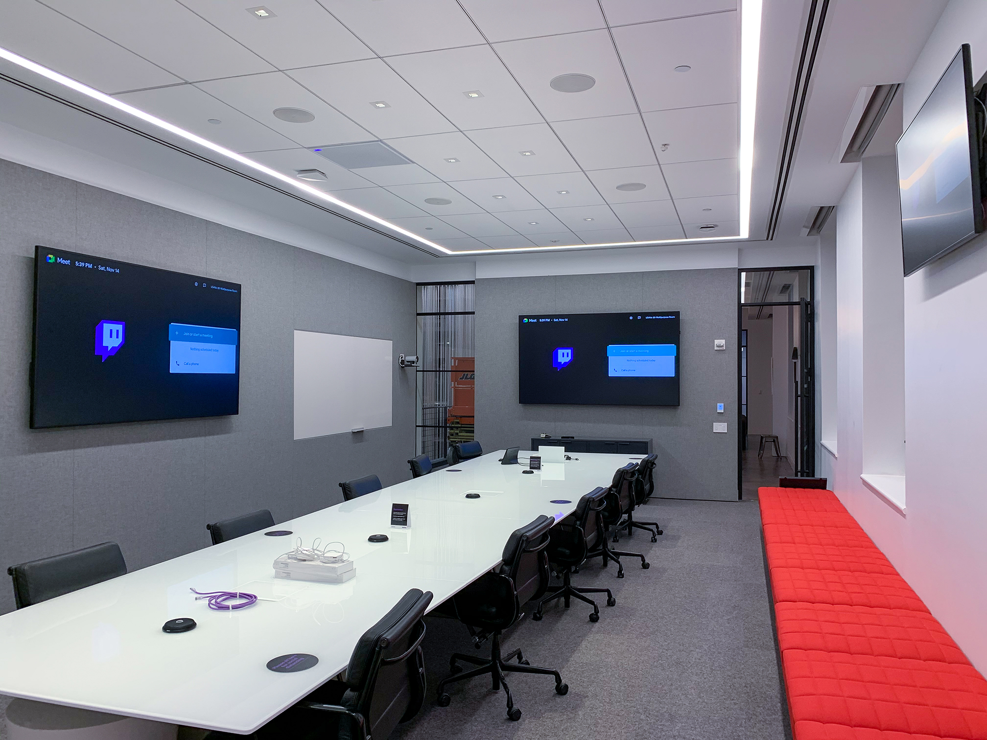 Twitch HQ 2.0 executive conference room using Samsung LED displays