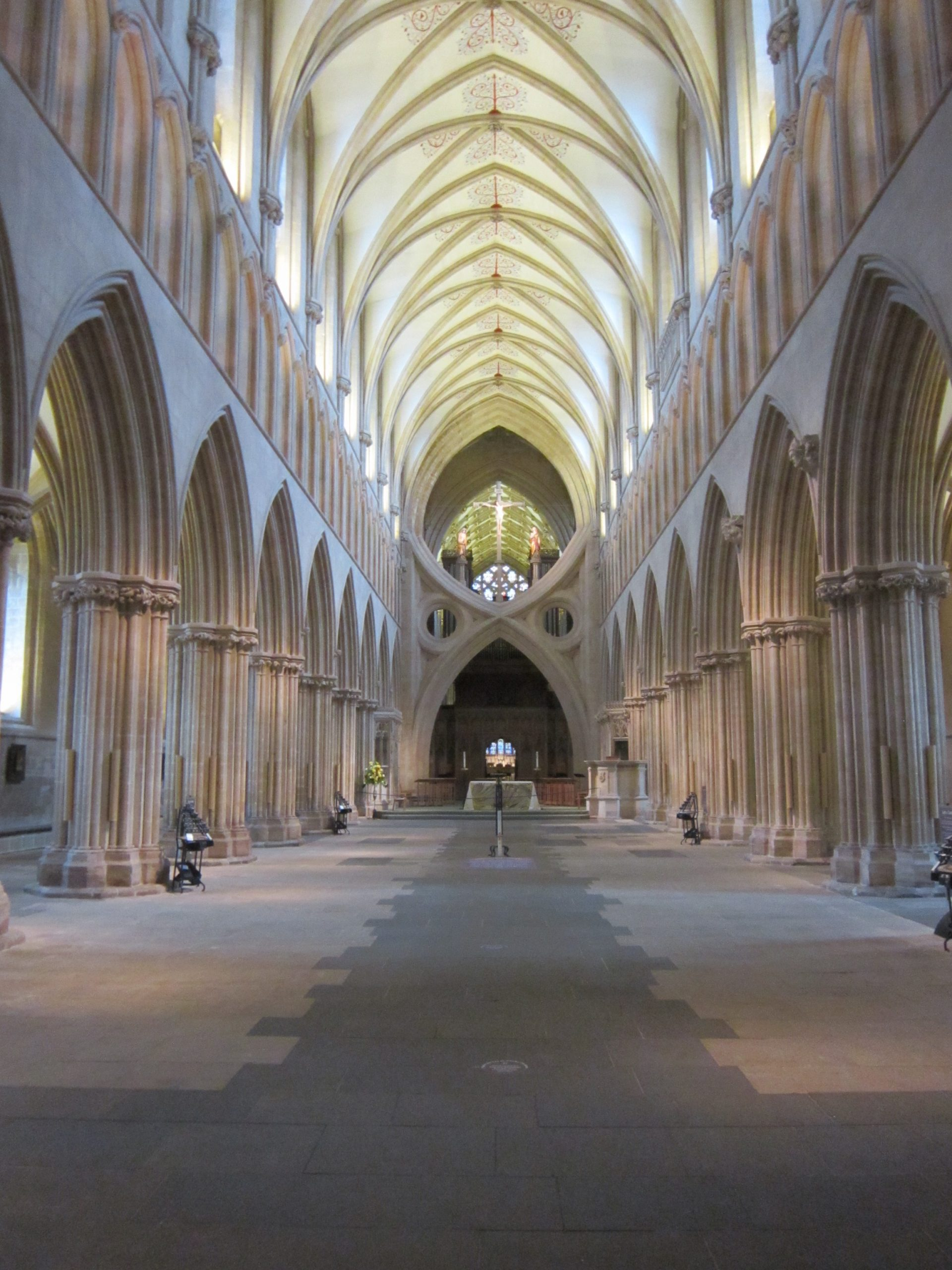 an empty nave