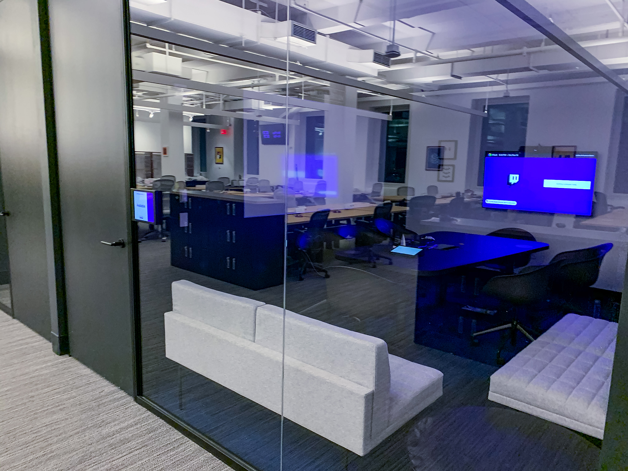 room schedulers used in Twitch's new headquarters