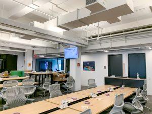 conference room utilizing digital signage