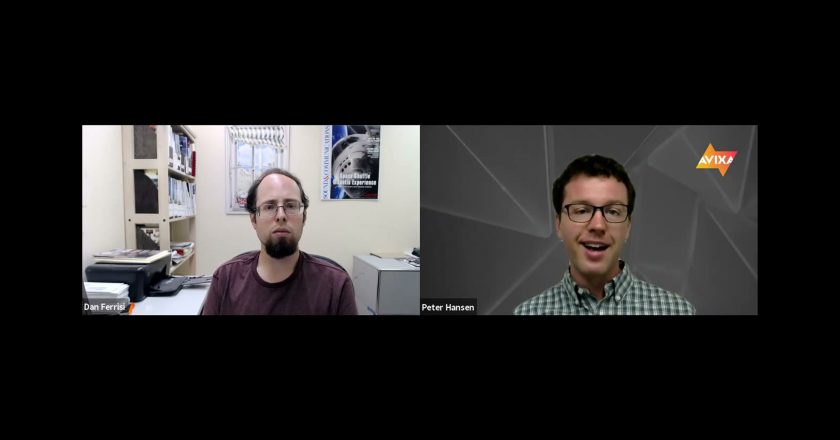 Dan Ferrisi and Peter Hansen discuss AV supply chain issues on a zoom call