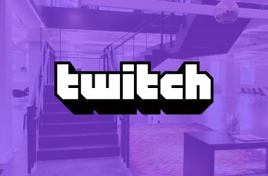twitch new NYC HQ with logo ovverlay