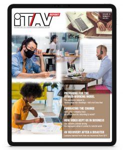 it/av report fall 2021 cover on ipad display