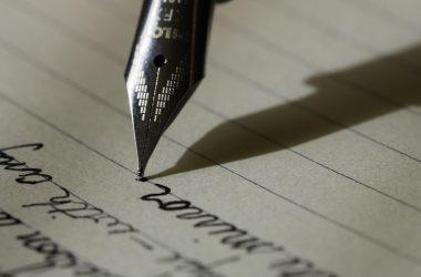 fountain pen writing a story